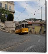 Lisbon Trolley 10 Canvas Print
