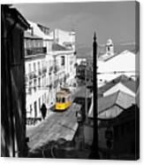 Lisbon Trolley 17c Canvas Print