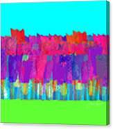 Lisse - Tulips Lighter Blue On Gree Canvas Print