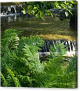 Listen To The Babbling Brook - Green Summer Zen Canvas Print