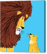 Listen To The Lion Canvas Print