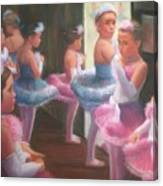 Little Ballerinas Backstage At The Recital Canvas Print