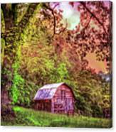 Little Barn In The Smokies Canvas Print
