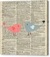 Little Birds Love Canvas Print