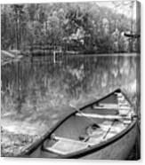 Little Bit Of Heaven Black And White Panorama Canvas Print