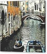 Little Boat In Venice Canvas Print