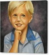 Little Boy Blue Canvas Print