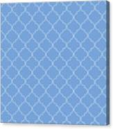 Little Boy Blue Quatrefoil Canvas Print
