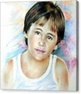 Little Boy From Tahiti Canvas Print