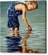 Little Boy Reflection Canvas Print