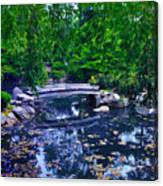 Little Bridge - Japanese Garden Canvas Print