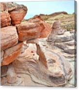 Little Castle Above Wash 3 In Valley Of Fire Canvas Print