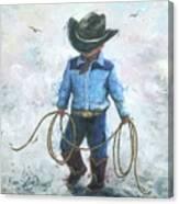 Little Cowboy Lasso Canvas Print