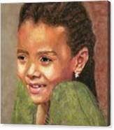 Little Evie Canvas Print