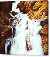 Little Firehole Falls Canvas Print