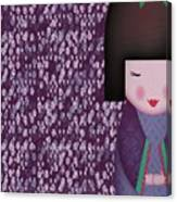 Little Geisha Purple Canvas Print