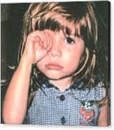 Little Girl Blue Canvas Print