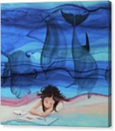 Little Girl Painter II Canvas Print