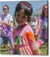 Little Girl Smiles Canvas Print
