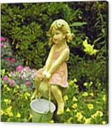Little Girl With Pail Canvas Print