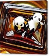 Little Glass Pandas 43 Canvas Print