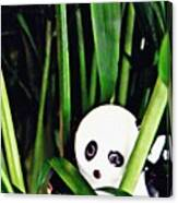 Little Glass Pandas 59 Canvas Print