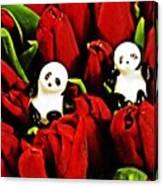 Little Glass Pandas 80 Canvas Print