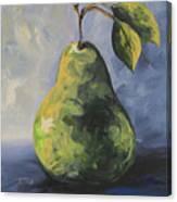 Little Green Pear Canvas Print