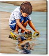 Little Guy Playing Canvas Print
