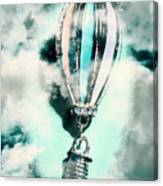 Little Hot Air Balloon Pendant And Clouds Canvas Print