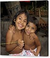 Little Indians  Amazon Canvas Print