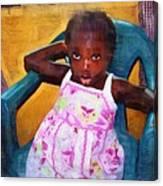 Little Orphan Girl Canvas Print
