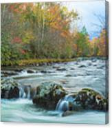Little Pigeon River Great Smoky Mountains National Park In Fall Canvas Print