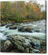 Little Pigeon River In Autumn In Smoky Mountains In Autumn Canvas Print