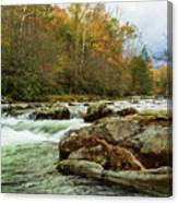 Little Pigeon River In The Greenbrier Section Of Smoky Mountains Canvas Print