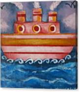 Little Pink Ship Canvas Print
