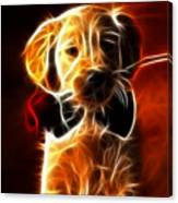 Little Puppy In Love Canvas Print