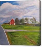Little Red Barn On Detrick Rd Canvas Print