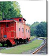 Little Red Caboose Enhanced Canvas Print