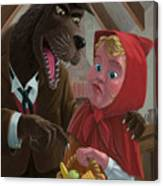 Little Red Riding Hood With Nasty Wolf Canvas Print
