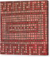 Little Red Tiles Canvas Print