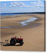 Little Red Tractor Canvas Print