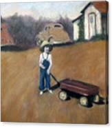 Little Red Wagon Canvas Print