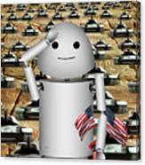 Little Robo-x9 Says Tanks Alot Canvas Print