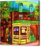 Little Shop On The Corner Canvas Print