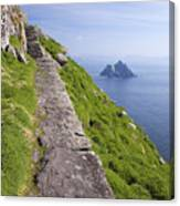 Little Skellig Island, From Skellig Michael, County Kerry Ireland Canvas Print