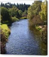 Little Spokane River Canvas Print