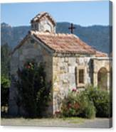 Little Stone Chapel In Vineyards Of Napa Valley Canvas Print