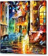Little Street - Palette Knife Oil Painting On Canvas By Leonid Afremov Canvas Print