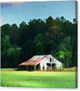 Little White Barn Canvas Print